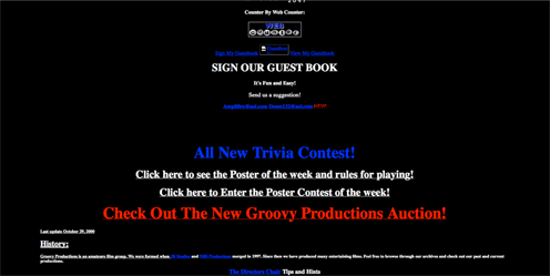Outdated website example from the 1990s